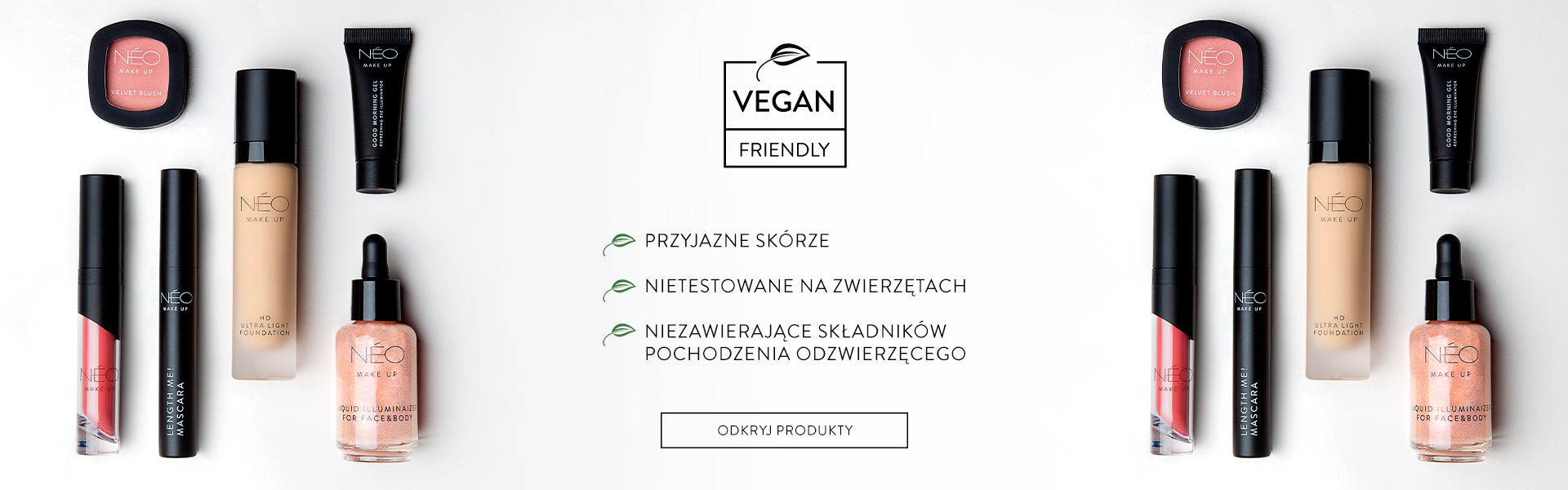 Kosmetyki Vegan friendly NEO Make Up
