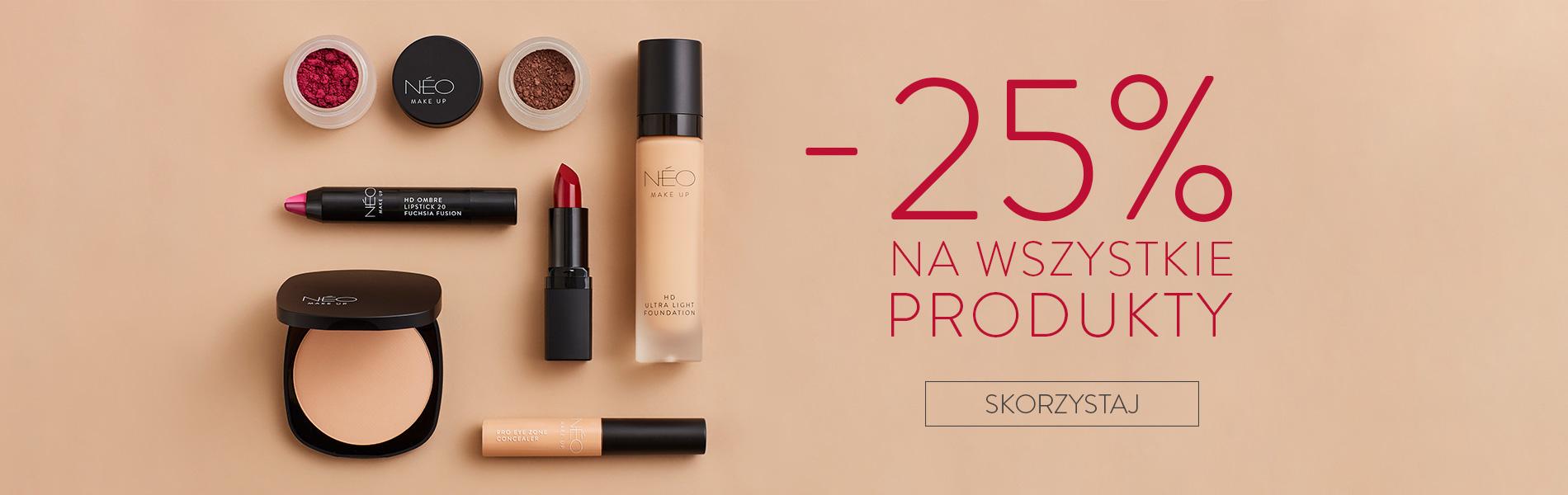 Rabat 25% na cały asortyment NEO Make Up