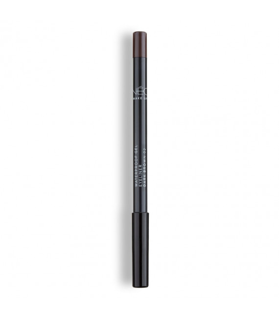 Kredka do powiek wodoodporna 02 dark brown Waterproof gel eyeliner 02 dark brown
