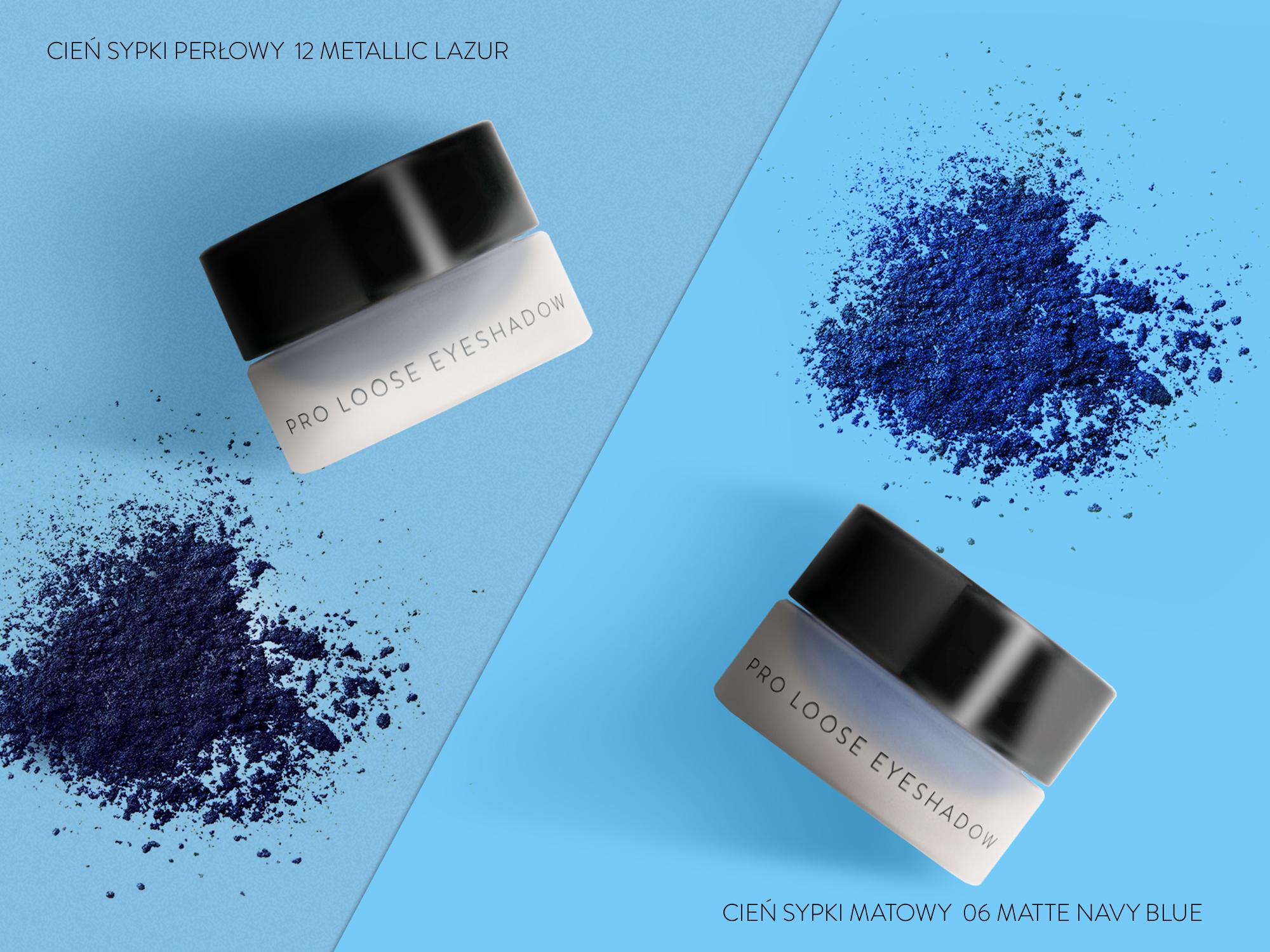 Profesjonalne cienie do powiek NEO Make Up, podkreślające niebieskie oczy