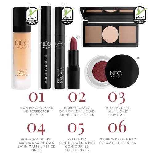 Kosmetyki potrzebne do wykonania makijażu Instant Glam