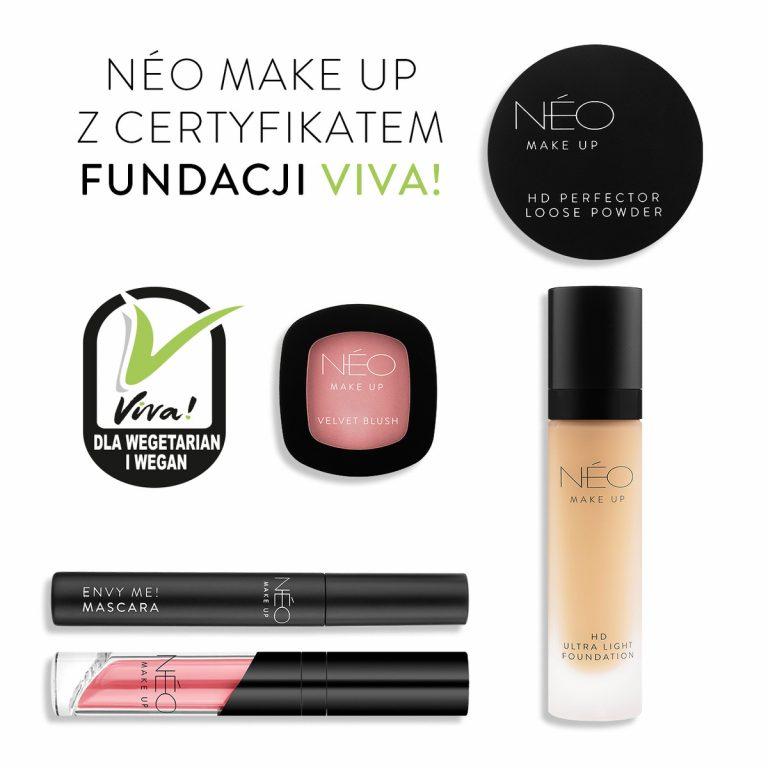Kosmetyki NEO Make Up zcertyfikatem fundacji Viva!