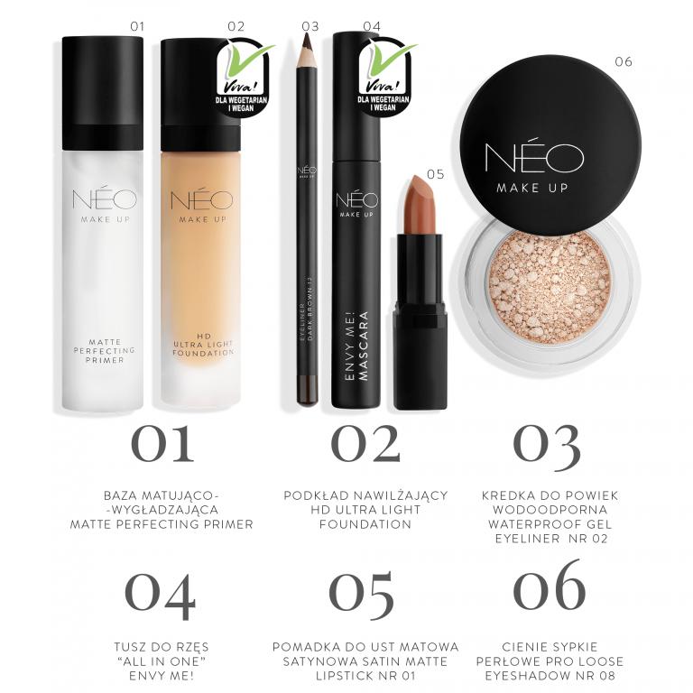 Kosmetyki potrzebne do wykonania makijażu Black Sensation